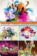 Цветочные иллюстрации в векторе