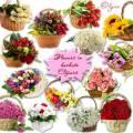 Клипарт PNG на прозрачном фоне – Плетеные корзинки с цветами