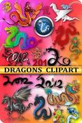 PNG клипарт - Драконы / PNG сlipart - Dragons