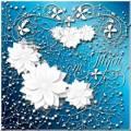 PSD исходник - Белая нежность узоров и цветов