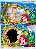 Детская рамка для фото - Русалочка