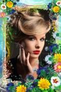 Цветочная рамка для фото - Полевые цветы