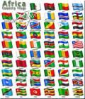 Клипарт - Государственные флаги стран Африки