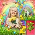 Детская рамка для фото и коллаж - Волшебный день