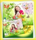 Детская рамка и коллаж для фото к Пасхе - Весеннее настроение