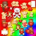Клипарт - Влюблённые мишки