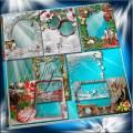 Набор новогодних рамок - Кристальность снежной чистоты и пожеланий красоты