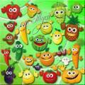 Детский клипарт - Фрукты и ягоды преображаются, и вот витамины уже улыбаются