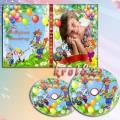 Обложка и задувка  на DVD диск для детского сада с котом Леопольдом и мышатами — Мой выпускной