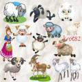 Клипарт символ 2015 года – Овцы, козы, барашки