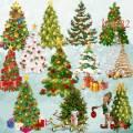 Подборка клипарта новогодних елок на прозрачном фоне – Новогодние елки