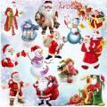 Подборка клипарта в PNG формате – Снеговик и Дед мороз