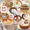 Рисунки на кофе (вырезы для подгона в Photoshop к любой чашке)