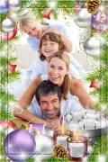 Новогодняя рамка для фотошопа - Приближение праздника