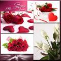 Счастье - в лепестках розы - Клипарт