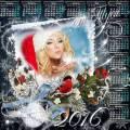 Снежинку на счастье я вам подарю - Рамка-коллаж и календарь