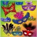 Таинственность карнавальной маски - Клипарт