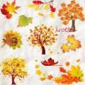 Клипарт для фотошопа – Осенние деревья и листья