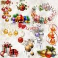 Зимние кластеры – Новогодние шары с подарками