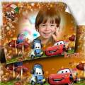 Осенняя рамка для мальчика – Тачки на дороге