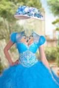 Женский фотошоп шаблон – В пышном бирюзовом платье