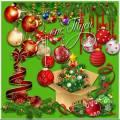 Ярких красок хоровод – наступает Новый год - Клипарт