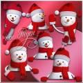 Деда Мороза ученик – добродушный снеговик - Клипарт