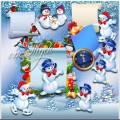 Добрые снеговички - Клипарт