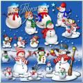 Снеговики - каждый год их очень ждут - Клипарт