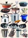 Клипарт для дизайна - Я дарю набор посуды