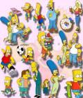 Клипарты для фотошопа -  Герои мультфильма Симпсоны