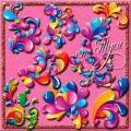 Клипарт - Разноцветная абстракция
