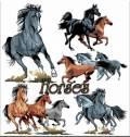 Лошади  - Vector Stock
