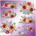 Полевые цветы - Клипарт