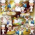 Клипарт - Повар вкусно угостит и гостей развеселит