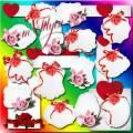 Clipart - Invitations for Valentine's Day