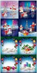 Новогодние фоны - Новогодние композиции / Christmas backgrounds - Christmas composition