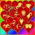 Клипарт - Сердца со знаками Зодиака / Clipart - Hearts with zodiac signs