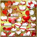 Clipart - A lot of valentines for you