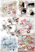 Scrap set - White Christmas / Lliella Chilly Milly Girls / Snowy Christmas / Frozen