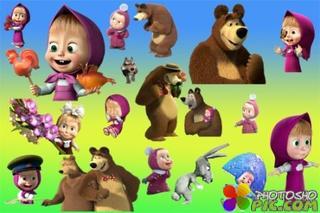 Клипарт – Маша и медведь 1