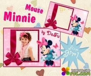 Детская рамочка для девочек Минни / Minnie Mouse frame
