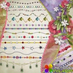 Бусы различные по форме и цвету - клипарт PNG