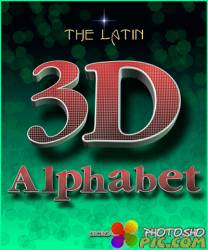 3D Латинский алфавит PNG - часть 15
