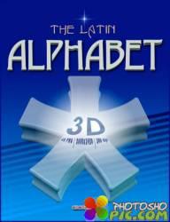 3D Латинский алфавит PNG - часть 16
