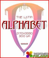 3D Латинский алфавит PNG - часть 17