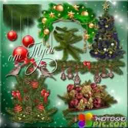 Клипарт - Новогодняя пора – время подарков и волшебства
