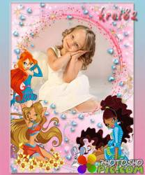 Рамка для девочки с героями мультфильма винкс — Моя малышка
