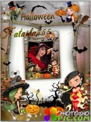 Праздничная фоторамка - Хэллоуин, ночные феи