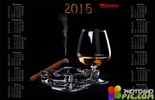 Настенный календарь на 2015 год – Мужской клуб